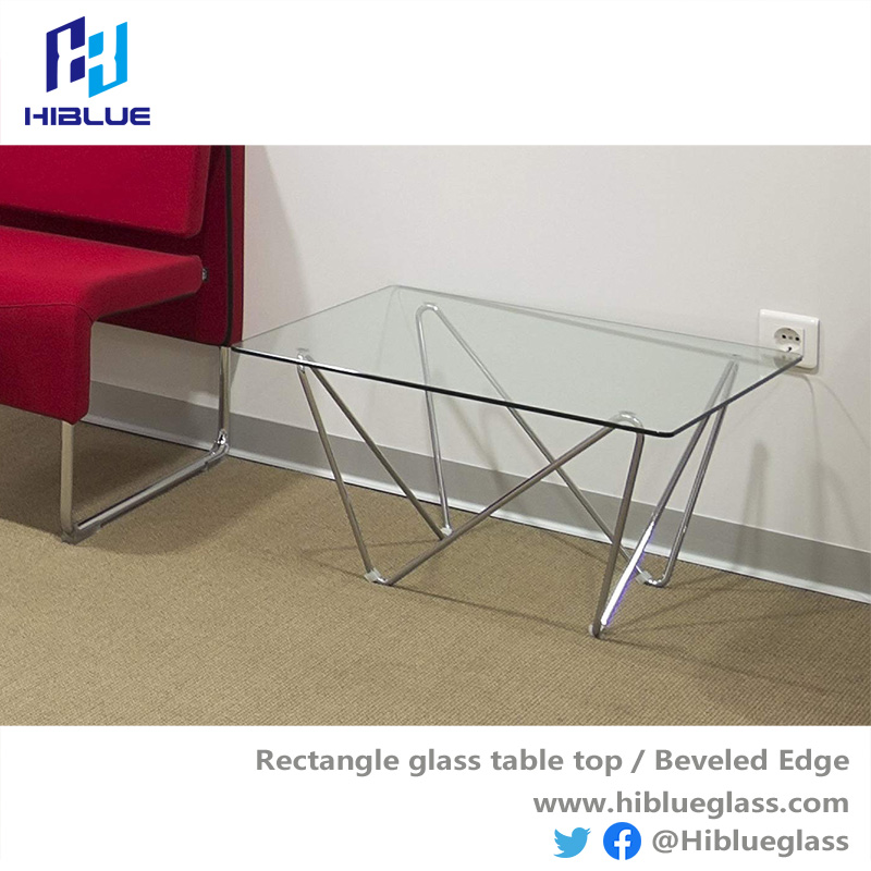 Coffee table top polished edge with safety corner