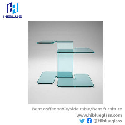 Modern Furniture Design Bent Glass Side Table