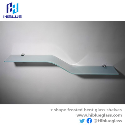 Z bent Glass clear or frosted glass