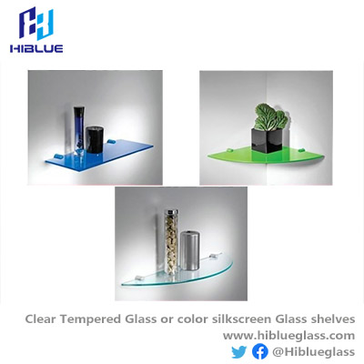 Flat Tempered  glass with color printed