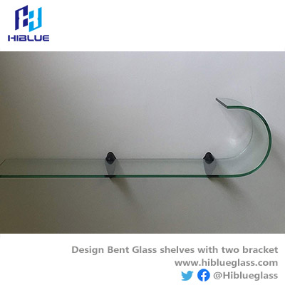 Bent Glass with frosted/ clear