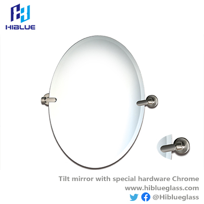 Tilt mirror with special hardware Chrome