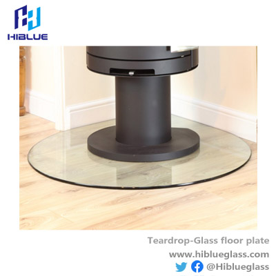Teardrop Glass Hearth / Floor Plate